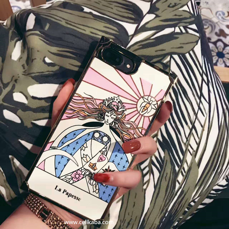 ゴージャスな豪華風ブランドdior iphone8/7s カバーdior春夏ファッションショー6sPlusケース四角形イラスト絵柄アイフォン7/7Plus携帯きれいディオール女性向け