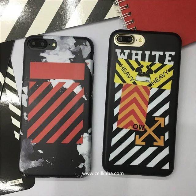 個性的なプリントをデザインiphone6s プラス カバー ブランドOFF WHITEオフ-ホワイトケース アイフォン6Plusかっこいい男女ストリートファッション縞模様クールな携帯カバー