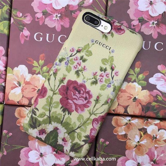花柄ブランドGUCCI グッチiphone8/7/7plus/6s/6plusケース きれいなアイフォン6s/7/6 plus 携帯カバー 女子力高いハードケース