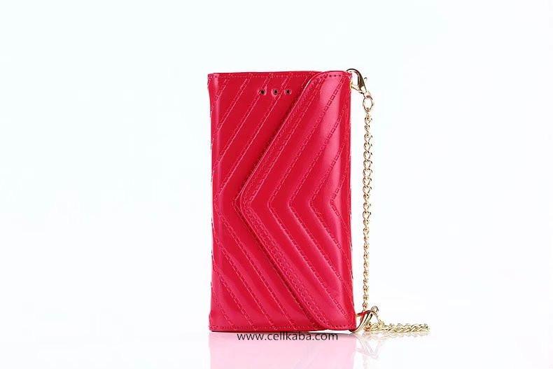 YSLエナメル革三つ折り皮製iPhone7plusケース。 チェーン付きバッグ型ショルダースマホケース。 女子向けのアイフォン6s携帯カバー、カード収納。