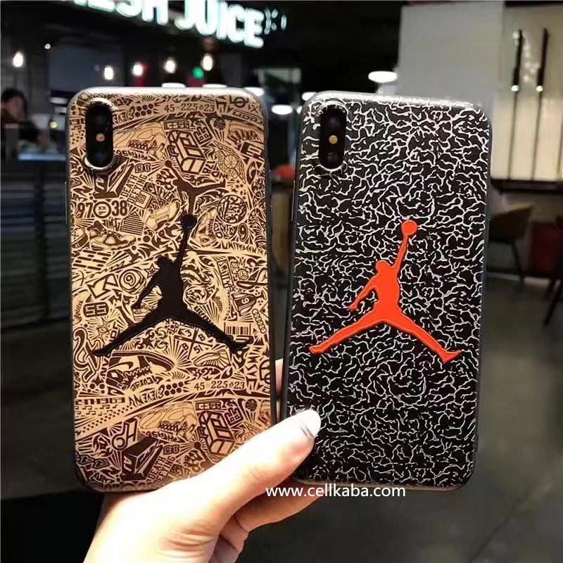 ブランドアイフォンケース、パロディ風ジョーダンiPhone7splusスマホケース、激薄なアイフォン7s携帯カバー、男性女性ペア向けの柔軟なTPU素材を採用のJordanアイフォンカバー