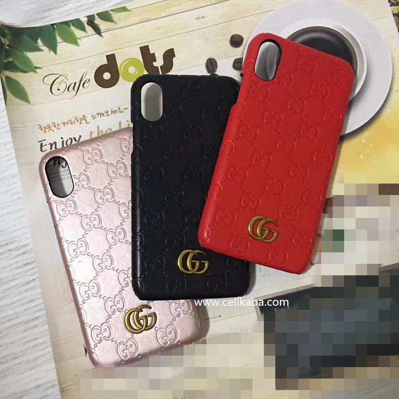 ブランド gucci iPhone8個性ケース、シグネチャー レザーを使用したGUCCI iphone7sケース、エンボス加工で刻印されたGGパターンが印象的です。
