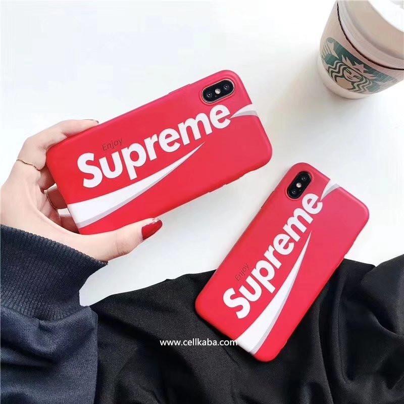 英文子母デザインのシュプリームSupremeアイフォンX携帯ケース、iphone8カバー iphone7plusジャケットカバー シンプルで可愛い、頑丈で耐熱性能がよい。