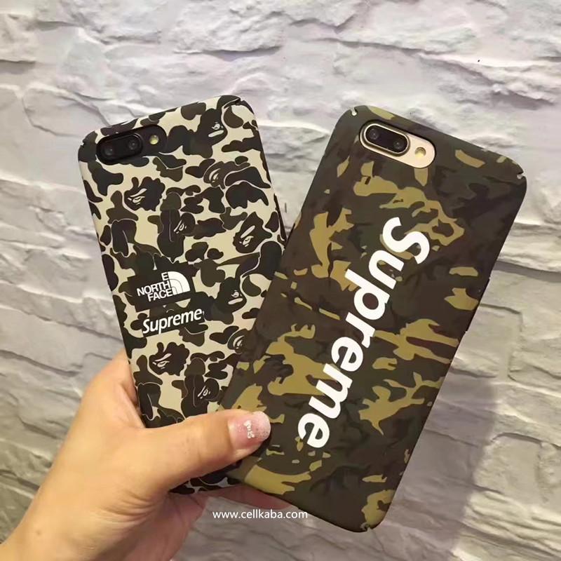 ブラントシュプリームiPhone8ケース、個性でかっこいい迷彩柄、放熱機能がよくて、手触りもステキ、男女通用のブランドアイフォン7保護ケース、耐衝撃で、芸能人愛用。