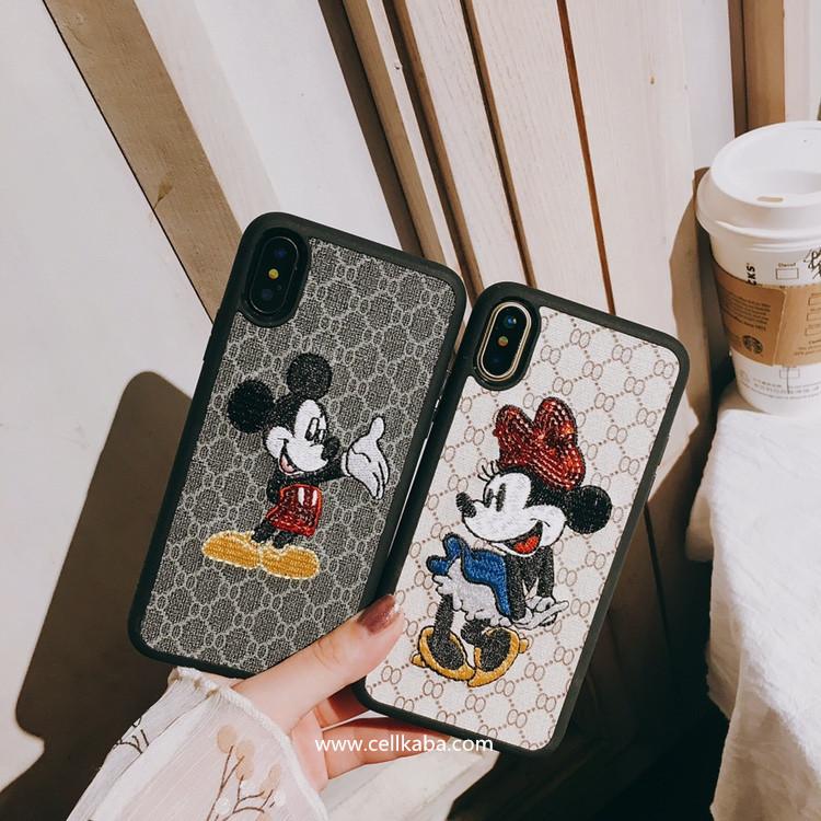 オリジナルミッキーマウスアップリケアイフォン8ケース、伝統デザイナー一つ一つ心を込めて仕上がる、芸能人にもよく利用される、カップル向けのiphone7 plusケース、耐衝撃で、使いやすい、激薄で、散熱加工、手に馴染みの手触り!
