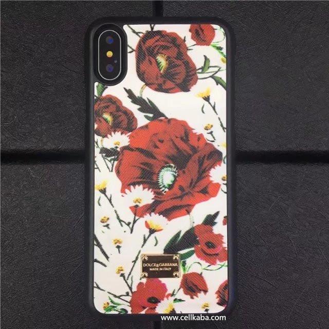 Dolce&Gabbanaアイフォン8スマホケースエスニック風アイフォンケース葉リーフ花柄、ドルチェ&ガッバーナ絵柄、シンプルでエレガント、クラシック風iphone7 Plus保護カバー。