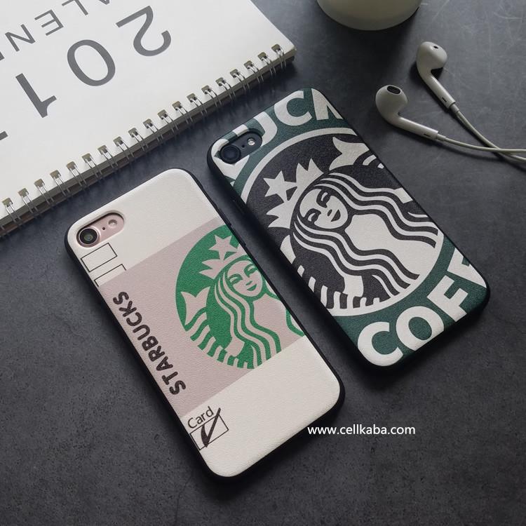 スターバックスiPhone Xケース、実用のブラントStarbucksアイフォン8プラスケース、薄いジャケット式で、持ち軽便で、片手で使える、、お洒落さが溢れている!