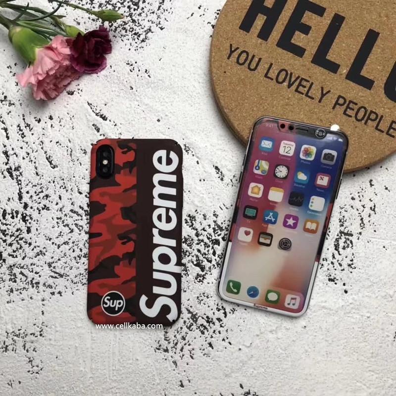 かっこよくておしゃれな個性ブランドシュプリーム迷彩柄iPhone Xケース、放熱機能がよくて、手触りもステキ、男女通用のsupremeアイフォン7保護ケース、耐衝撃で、芸能人愛用。
