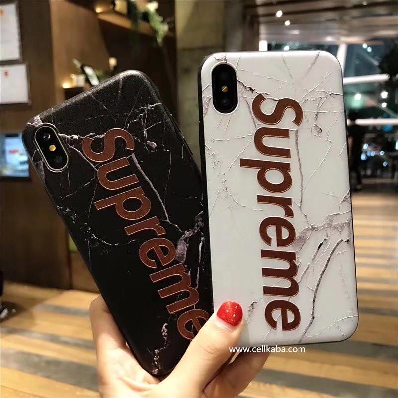 ブラントシュプリームiPhone8 plus ケースはアメリカの新しいファッションのトレンド、芸能人愛用Supreme iphone Xケース、可愛い柄、浮き彫りデザイン、耐衝撃で、放熱機能性も抜群、使い心地も最高!