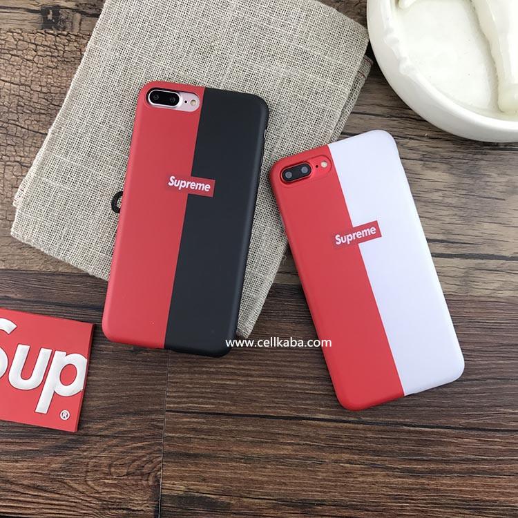タイドブランドシュプリームiphone xケース、デザインがシンプルだが、ファションさが溢れているストーリー系iphone7 iPhone8 plus ジャケットカバー、TPU製で、超薄い!軽い!