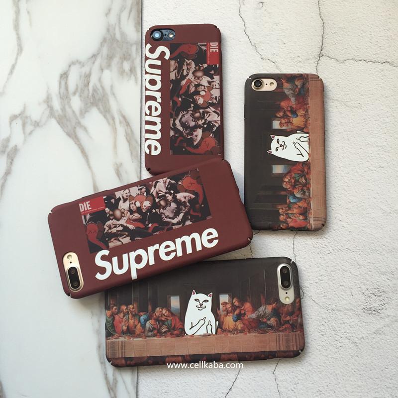 パロディ風シュプリーム iphone8 アイホーン6s プラスカバー、男性女性にこだわらず、若者のファションブランドsupreme iphone 7カバー、カメラや充電等の機能がスムーズに使用でき、見た目と中身の完璧のコンビの上品です。