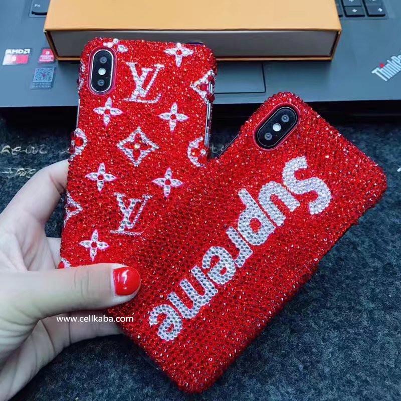 SUPREME & LOUIS VUITTON アイフォンテンケース iphone8カバー、ガールズに向けるな超薄いタイプなiphone6 plusケース、軽くて持ちやすいし、輝くお洒落な外観で、目立つ。