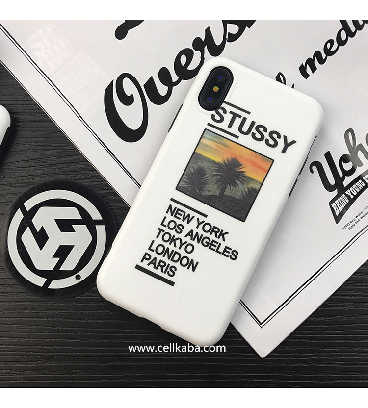 ストリート系ファッションブランドステューシー iPhone7 iPhone8 plus ケース登場!おしゃれなデザインで、シンプルでカッコイイ、アイフォン6sカバー、放熱加工!激薄な手触り!