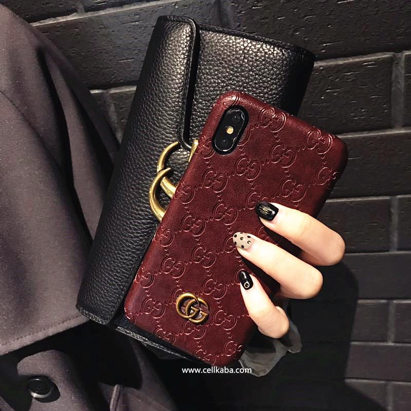 伝統的職人が印伝のグッチgucci アイフォンケース、超美しい小紋柄が仕上がるロゴ型押しカバーグッチiphone8/7plus ケース、つややかな漆の光沢があるのエンボス加工ブランド携帯iphone6/6s plusケース、エレガント。