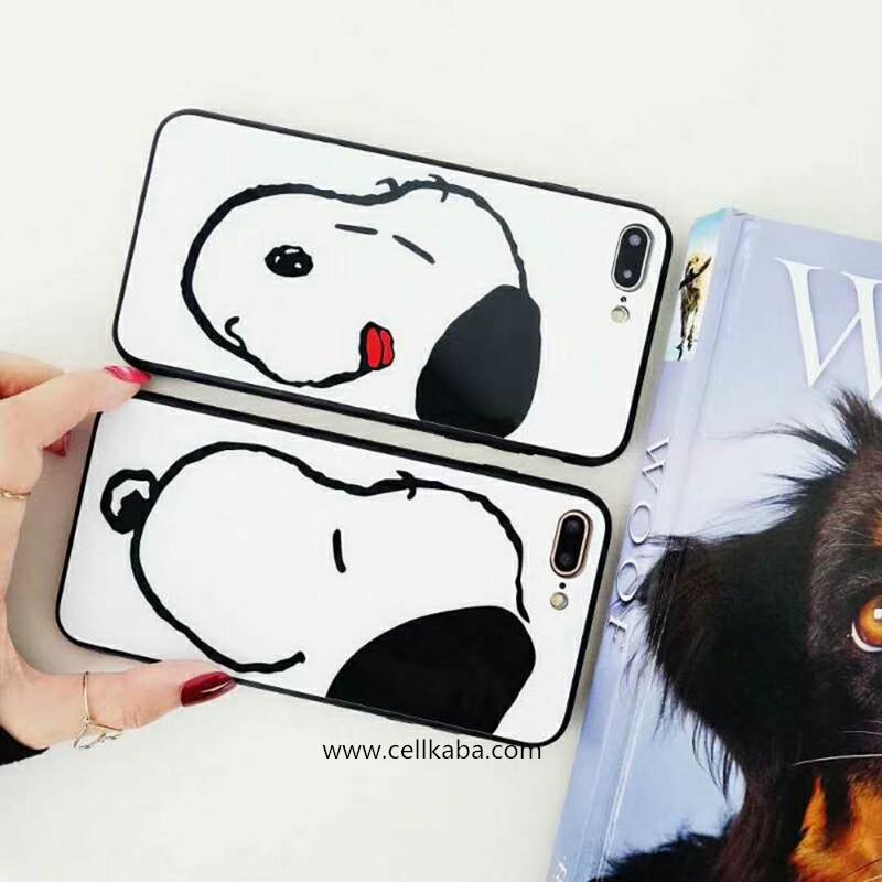 オリジナル可愛い犬ちゃんモチーフのiphone Xケース、散熱加工のアイフォン7プラスカバー、可愛い雰囲気、簡潔で目立つ、カップル向け、シンプルでオシャレ!