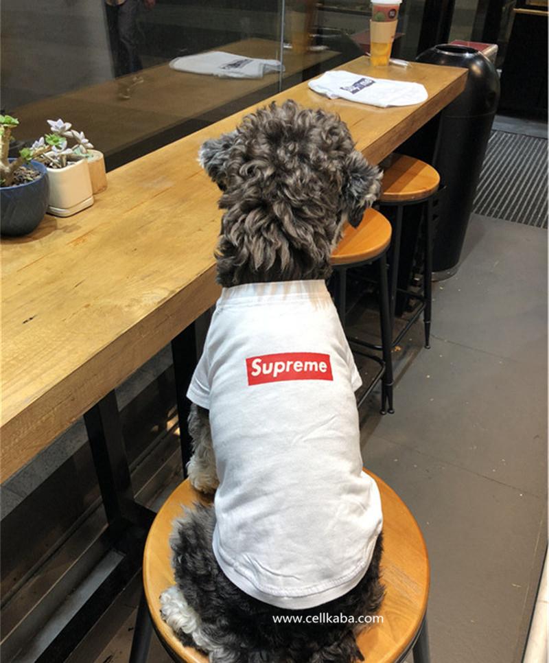 ブラントシュプリーム犬の服、かわいいと美しい新機能と高品質、ファッショナブルな、素敵なデザイン。おしゃれな小型犬用Tシャツ、コットン生地、超柔らかく暖かい、あなたのペットのすきまなくプロテクト。