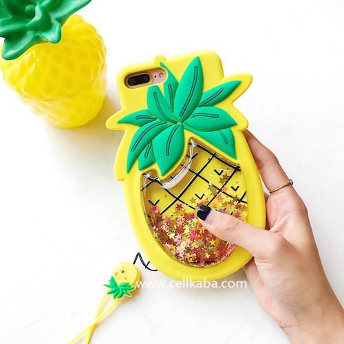 オリジナル可愛いパイナップルデザインのiphone Xケース、散熱加工のアイフォン7プラスカバー、伝統を打破するの新作として、男女問わず大人気♥