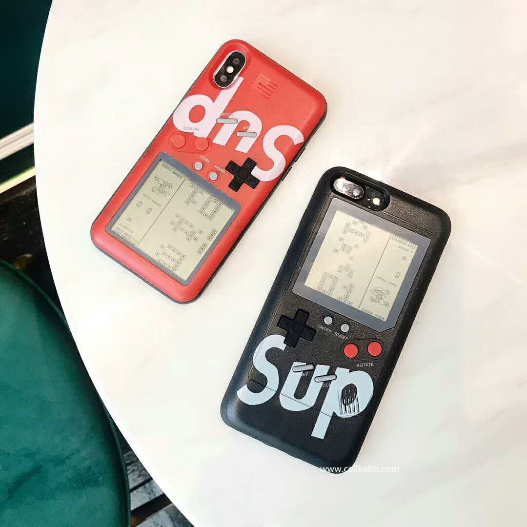 シュプリームゲーム機iphoneX plusケース、ユニークなiphone8/7 plusケース、カップルにピッタリのペアケース、恋人にお揃いの携帯ケースをできて嬉しいね。