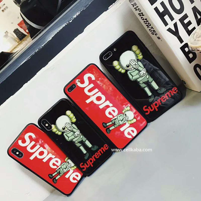 ファションブランドsupreme iPhone9ケース、iphoneXS plusペアケース、個性感がたっぷり、強化ガラス製、保護性と魅力さが最大発揮のようデザインされました。