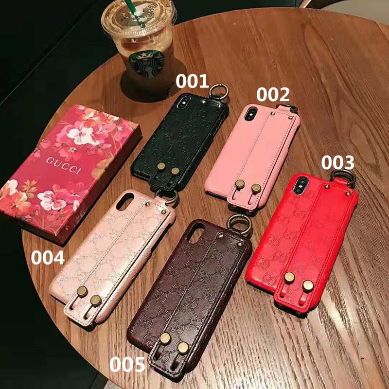 ブランドGUCCIからのiPhoneX/8/7ケースが激安通販。GGロゴ押し型デザイン、バンド付き、海外セレブが人気すすめのグッチアイフォンXs/Xsマクススマホカバー。