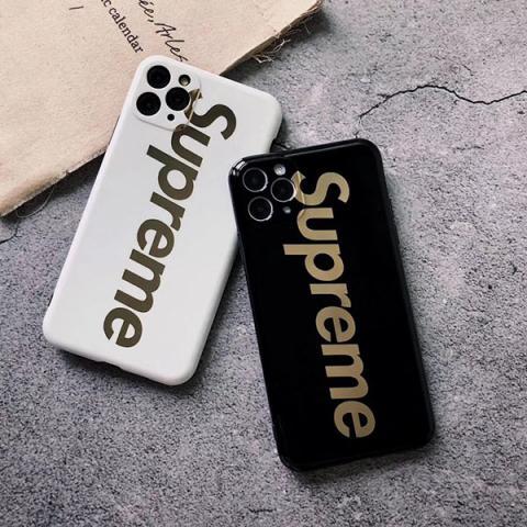 シュプリーム iPhoneSE ケース 上品 supreme アイフォン11ケース 男性 柔らかい シュプリーム iphoneXR/XS MAXカバー 衝撃吸収 白黒 かっこいい レディース