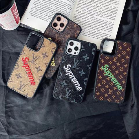 シュプリーム ルイヴィトン コラボ iphone12/12Proケース 高級感 supreme iphone12Pro Max/12mini カバー ルイヴィトン アイフォン11/11Pro/Xケース モノグラム 高級感